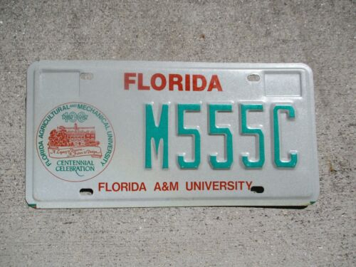 Florida A & M University Older style  license plate  #  M555C