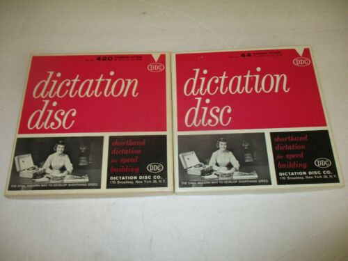 Dictation Disc (DDC) shorthand speed course No. 44 and 420 - 8, 45 rpm records