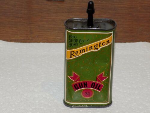Vintage Remington Gun Oil 3 Ounce Empty Can