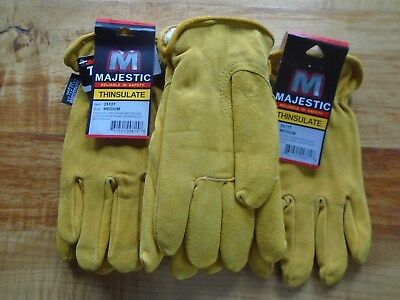 Winter Lined Thinsulate Cowhide Select Shoulder Work Gloves Size Medium 3 Pair