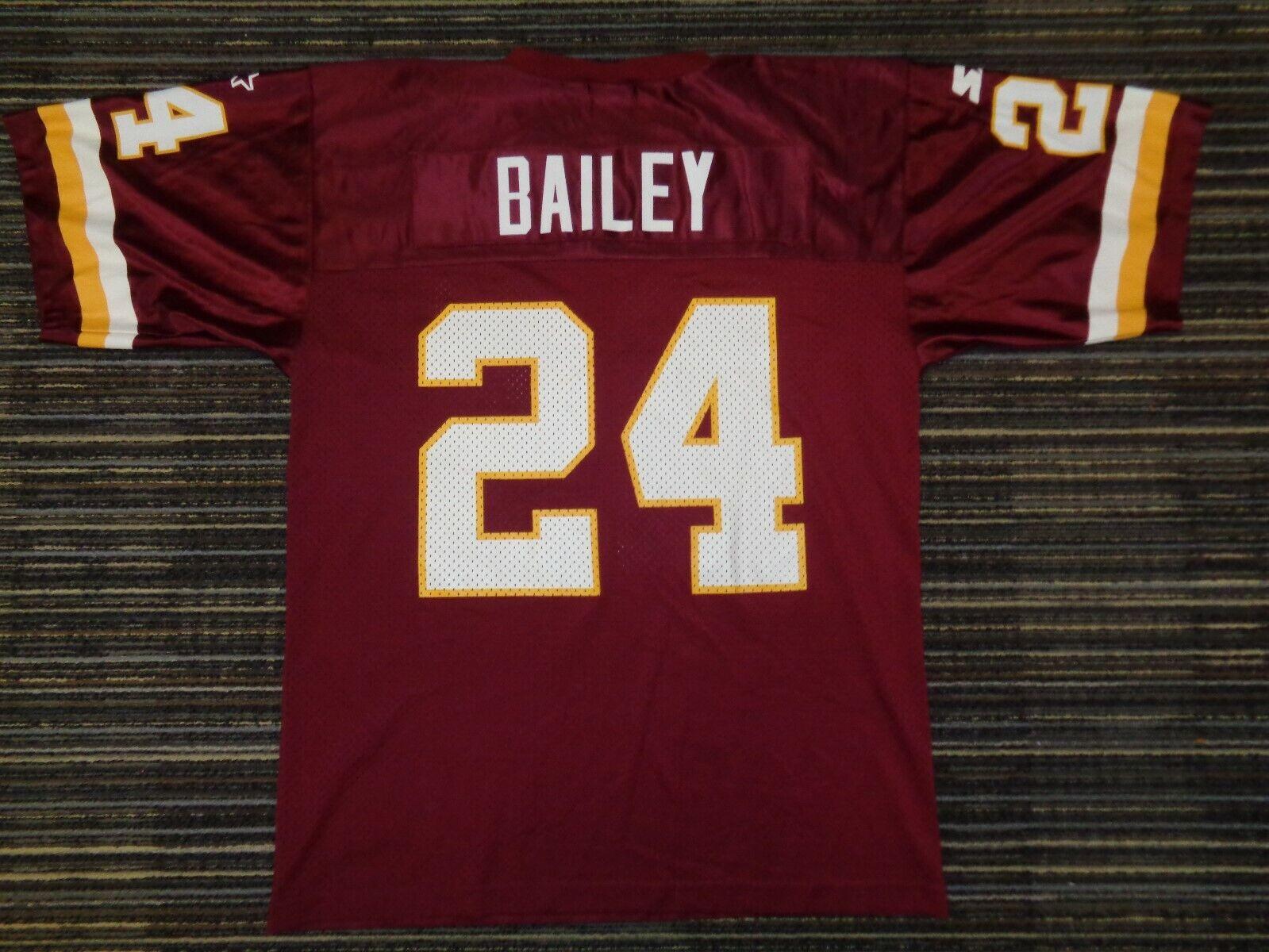 CHAMP BAILEY 24 WASHINGTON REDSKINS STARTER NFL GAME FOOTBALL TEAM JERSEY SZ LG - $29.99