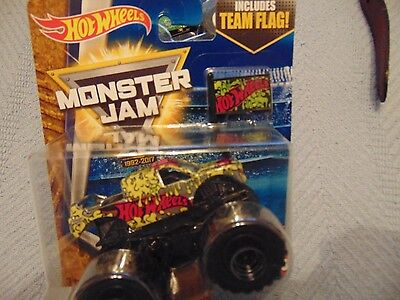Team Hot Wheels 2017  Hot Wheels Monster Jam Truck  with Flag