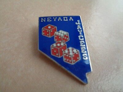 """VINTAGE NEVADA JAYCEES 1978 state outline approx. 1 1/8"""" tall"""