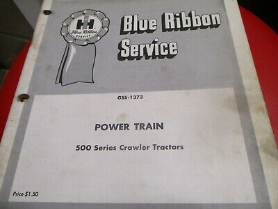 International Power Train 500 Series Crawler Tractors Service Manual