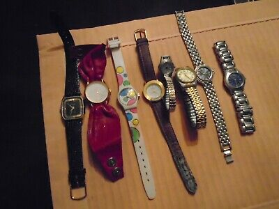 Lot of 8 Vintage watches: Gucci,Geneva, Le Watch etc.