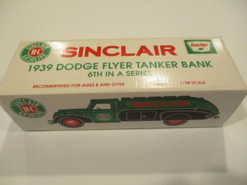 VTG ERTL Sinclair Gas Oil Advertising 1939 DODGE AIRFLOW TANKER TRUCK NIB
