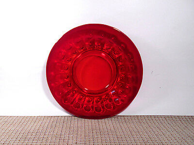 L. G. Wright Glass Priscilla Ruby Pattern Luncheon Plate 8""