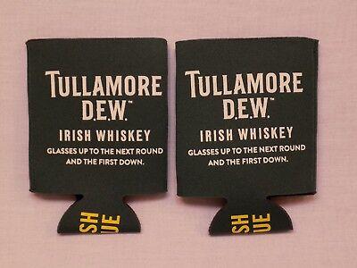 2 NEW Set Lot Tullamore Dew Irish Whiskey Green Koozie Barware Ireland TRUE