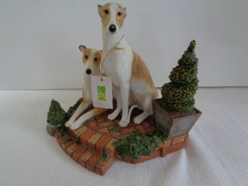 COUNTRY ARTISTS WHIPPET GREHOUNDS ON BRICK HEARTH