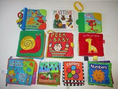Soft Fabric Baby Books Sensory Developmental Baby Toy Lot