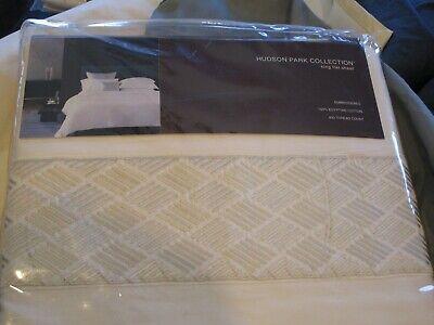 Hudson Park King flat sheet Egyptian cotton lattice embroidered ivory 400 TC New King Embroidered Flat Sheet