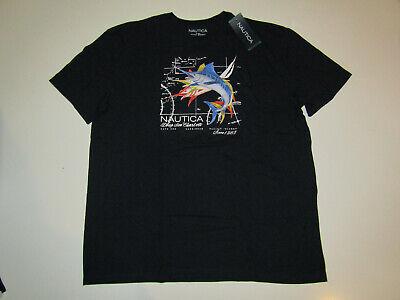 NAUTICA  Mens T Shirt Navy Swordfish Crewneck NWT L Large