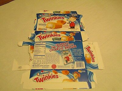 Hostess  Interstate Brands  Twinkies Charlie Brown Empty Collectible Box