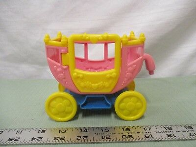 Fisher Price Little People Princess Carriage Pink Two seat coach wagon castle (Princess Carriage Wagon)