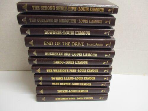 Lot of 11 ~ Louis Lamour Leatherette Books