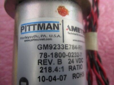 Pittman Ametek Model Gm9233e784-r1 Motor. Unused Old Stock