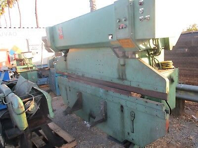 Very Nice Hjo Sweden 10 Foot 60 Ton Mechanical Press Brake W Motorized Ram