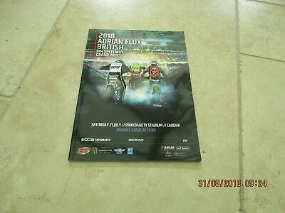 2018 Adrian Flux British FIM Speedway Grand Prix Program