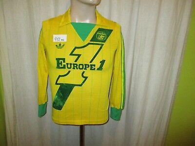 FC Nantes Original Adidas Langarm Heim Trikot 1980/81