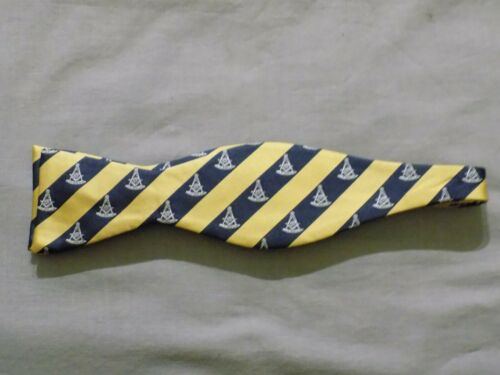 Past Master Bow Tie Masonic Square Gold Blue Formal Wedding Tuxedo NEW!