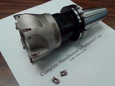 "5 Sandvik RCKT1204 Round inserts MT3 arbor#506-R200-3 3/"" face mill R200 w"