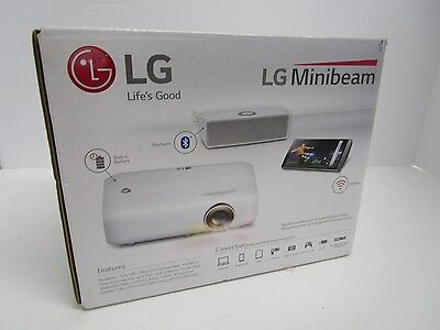LG PH550 Minibeam HD Portable DLP Projector - White, Built In Battery