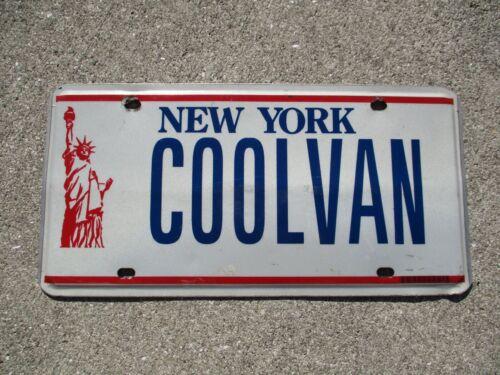 New York Statue of Liberty vanity license plate #  COOLVAN