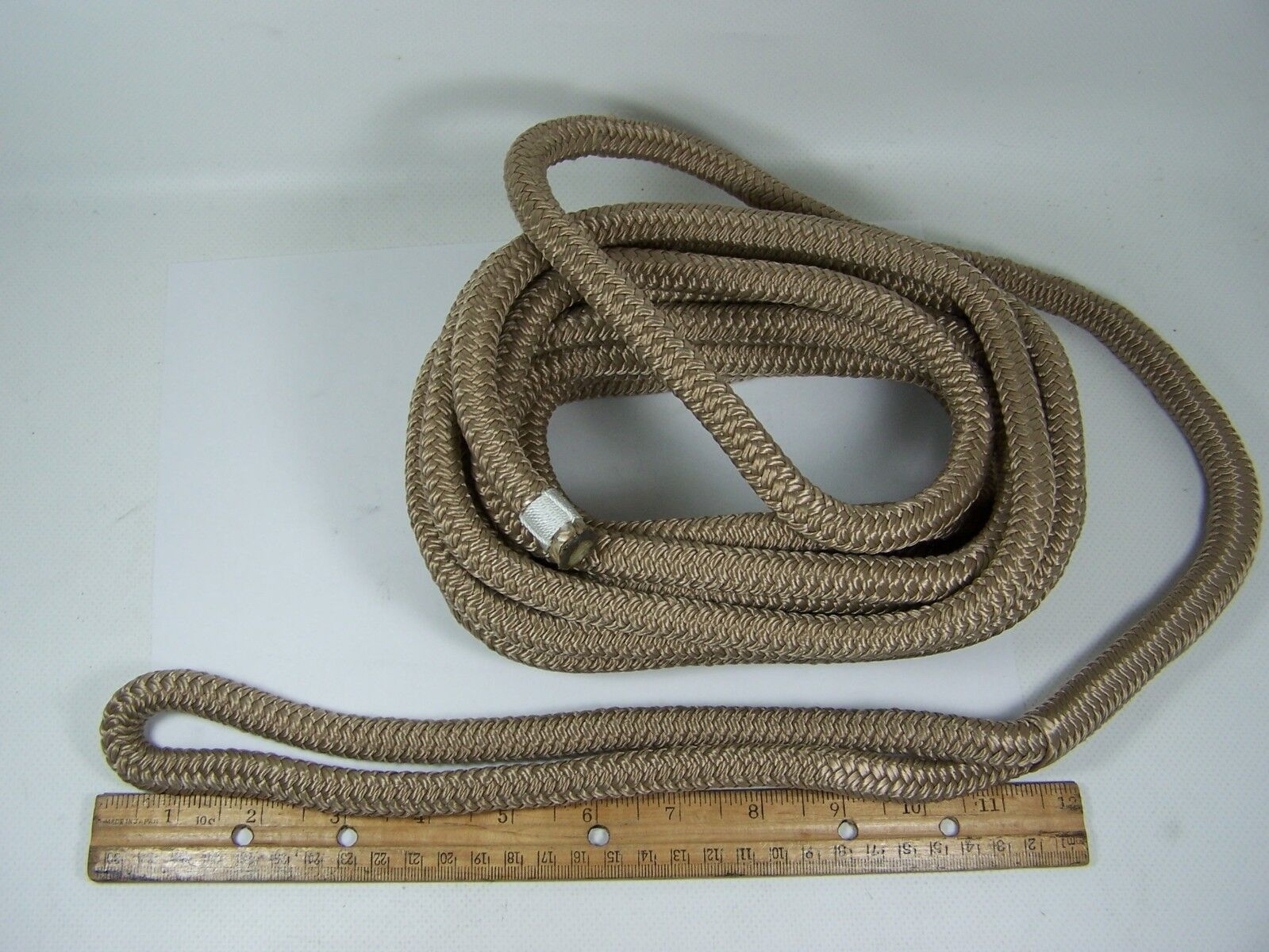 """302112025TP-1 Sea-Dog Line Double Braided Dock Line1/2"""" x 25' Taupe 132-4880"""