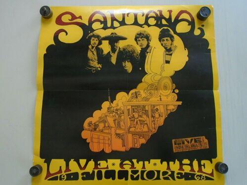 """SANTANA - Original 1997 Promo Poster - Exc new cond./ 24 x 24""""  Live Fillmore"""