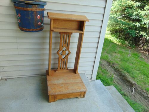 vintage/antique  prayer bench   nice  # 7471