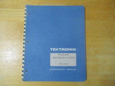 Tektronix Pulse Generator Pg 501 Instruction Manual