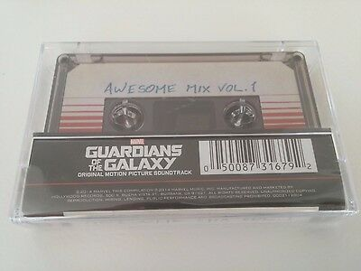 GUARDIANS OF THE GALAXY Awesome Mix Vol 1 Cassette Tape Soundtrack BRAND NEW