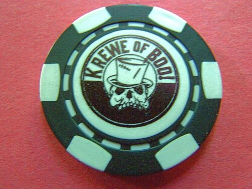 XRare 2019 Krewe of Boo KING BOO RUE Poker Chip Halloween Parade Doubloon