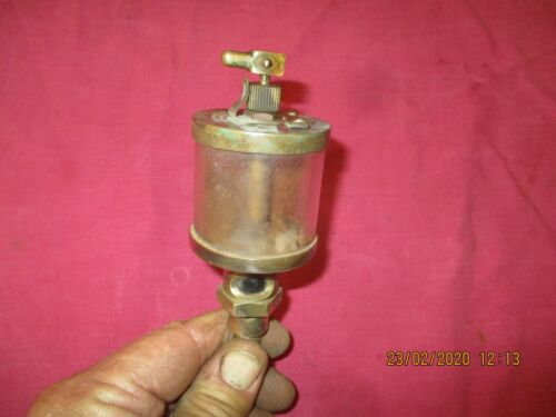 `vintage stationery engine oiler drip feed oil .