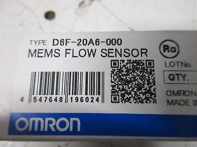 Omron Mems Flow Sensor D6f-20a6-000 New