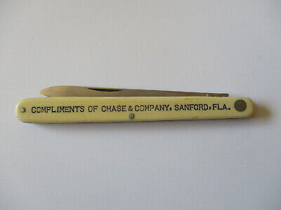 1930s Schrade Cut Co Walden New York Knife Sanford Florida Advertising Knife