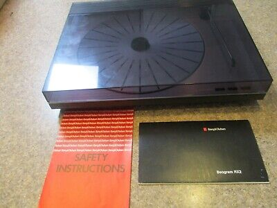 BANG & OLUFSEN B&O BEOGRAM RX2 TURNTABLE ONLY WITH DOCUMENTATION IN ORIGINAL BOX