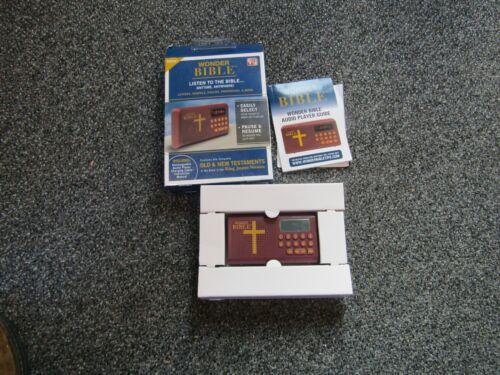 Wonder Bible Audio Player King James Version Complete Old & New Testaments 43140