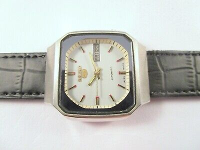 VINTAGE SEIKO 5 7009 AUTOMATIC DAY-DATE JAPAN MEN'S WRIST WATCH #P166