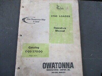 Omc Mustang 1700 Skid Steer Loader Owners Manual Catalog Book Original