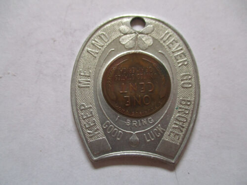 1955 Horseshoe Club Las Vegas Nevada Good Luck Penny encased cent
