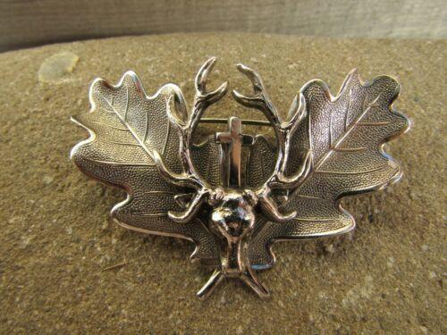 Scottish Stag Cross Brooch Pin