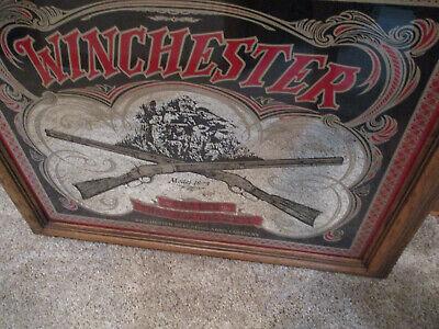 1873 Winchester Mirror Bar Sign.