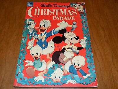Walt Disney's Christmas Parade #5 (1953) Dell Giant - Mickey Mouse, Donald Duck
