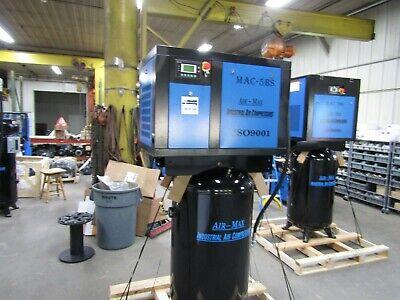 Air-max Mac-5bp Rotary Screw Industrial Air Compressor 5 Hp 3ph. 80v Wdryer