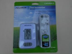 AcuRite Wireless Sensor Digital Indoor Outdoor Thermometer with Clock White