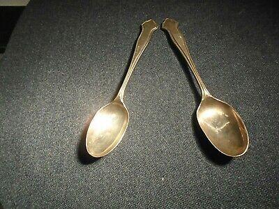 TWO SHEFFIELD HALL MARKED SILVER  TEA SPOONS-(2004)