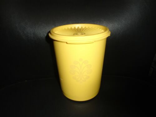 VINTAGE TUPPERWARE CANISTER JR. INSTANT SEAL #811 DAFFODIL