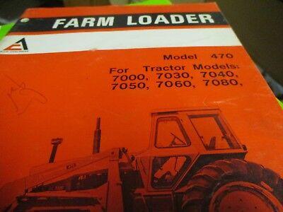Allis Chalmers 470 Farm Loader Operators Manual