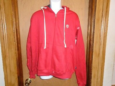 Rugby Assn. 1897 Men's Full Zip Hoodie Cotton/Polyester Red Jacket Size L NWT Full Zip Rugby